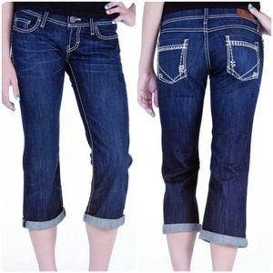 BKE Starlite Embellished Stretch Cropped Jeans